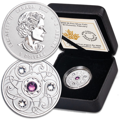 Image for 2020 Canada Silver $5 Birthstone - February from Littleton Coin Company