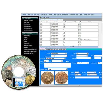 Image for Coin Collectors Assistant Deluxe Software from Littleton Coin Company