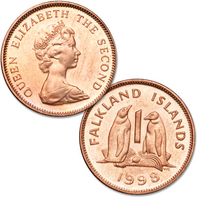 Image for 1998-1999 Falkland Island 1 Penny from Littleton Coin Company