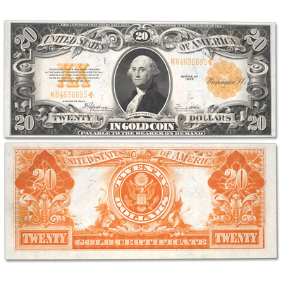 Image for Series 1922 $20 Large-Size Gold Certificate from Littleton Coin Company