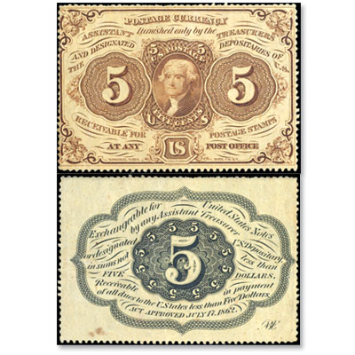 Image for 5¢ Fractional Currency Note from Littleton Coin Company
