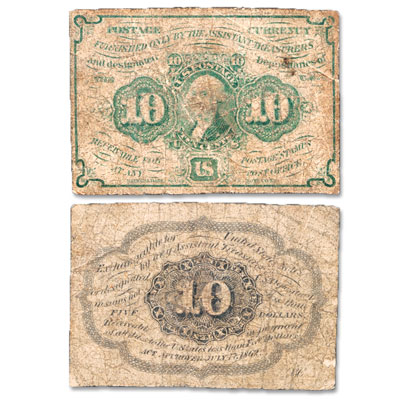 Image for 10¢ Fractional Currency Note from Littleton Coin Company