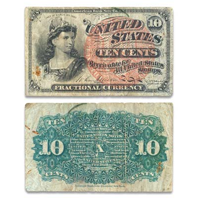 Image for 1869-1875 10¢ Fractional Currency Note from Littleton Coin Company