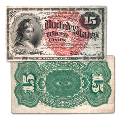Image for 1869-1875 15¢ Fractional Note from Littleton Coin Company