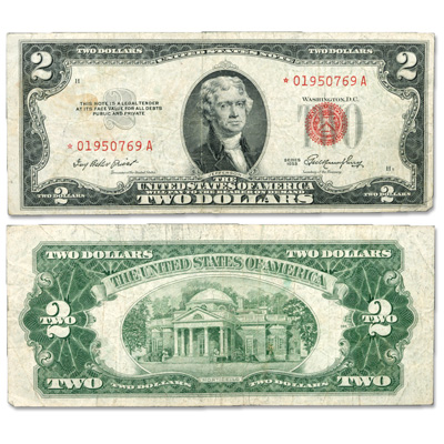 Image for 1953 $2 Legal Tender Note, Star Note from Littleton Coin Company