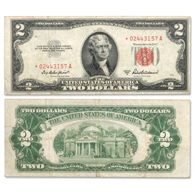 Image for 1953A $2 Legal Tender Note, Star Note from Littleton Coin Company