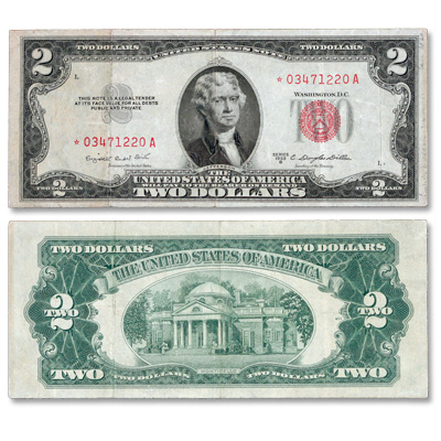 Image for 1953B $2 Legal Tender Note Star Note from Littleton Coin Company