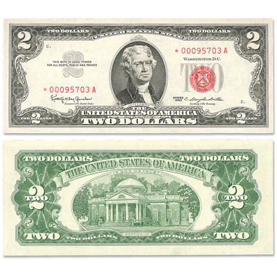 Image for 1963 $2 Legal Tender Note, Star Note from Littleton Coin Company