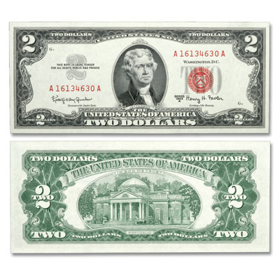 Image for 1963A $2 Legal Tender Note from Littleton Coin Company