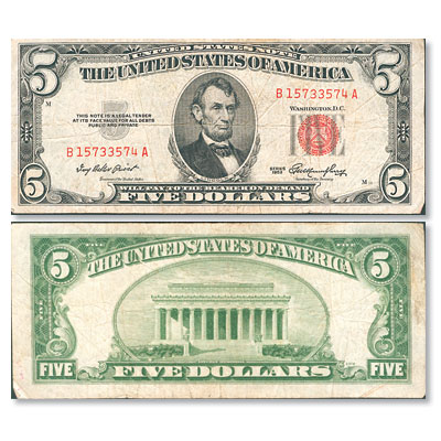 Image for 1953 $5 Legal Tender Note from Littleton Coin Company