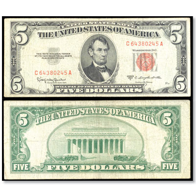 Image for 1953B $5 Legal Tender Note from Littleton Coin Company