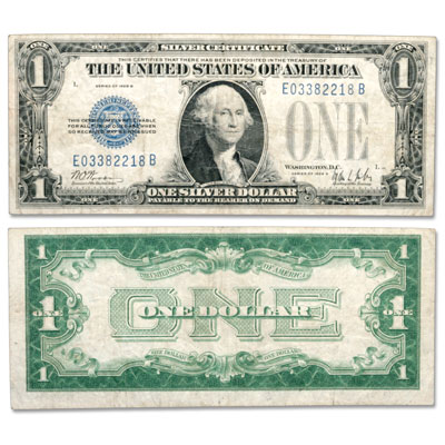 "Image for 1928B $1 Silver Certificate, ""Funnyback"" from Littleton Coin Company"