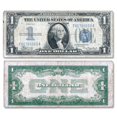 "Image for 1934 $1 Silver Certificate, ""Funnyback"" from Littleton Coin Company"