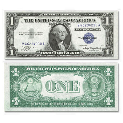 Image for 1935A $1 Silver Certificate from Littleton Coin Company