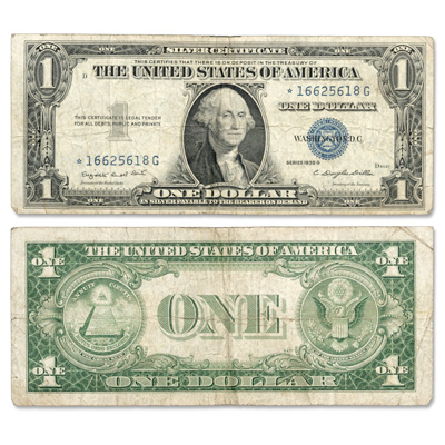 Image for 1935G $1 Silver Certificate, Star Note from Littleton Coin Company
