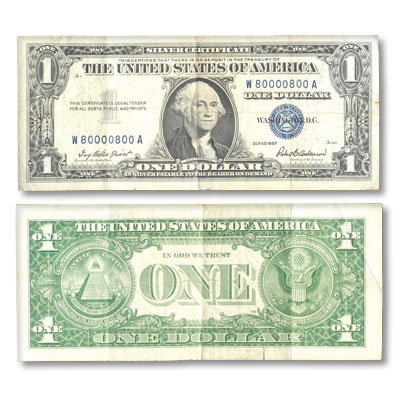 1935G $1 Silver Certificate, With Motto | Littleton Coin Company