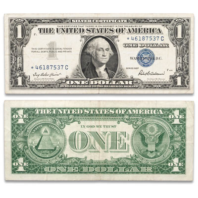 Image for 1957 $1 Silver Certificate, Star Note from Littleton Coin Company
