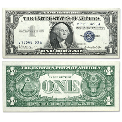 Image for 1957B $1 Silver Certificate from Littleton Coin Company