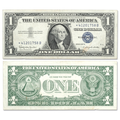 1957B $1 Silver Certificate, Star Note | Littleton Coin Company