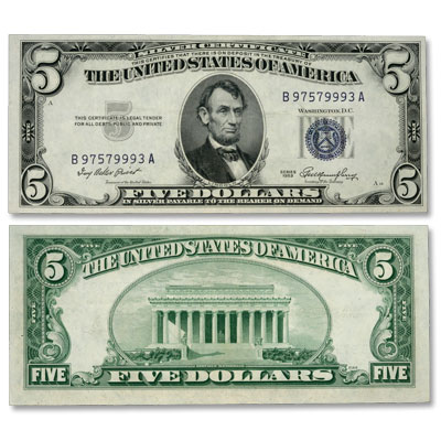 Image for 1953 Small-Size $5 Silver Certificate from Littleton Coin Company
