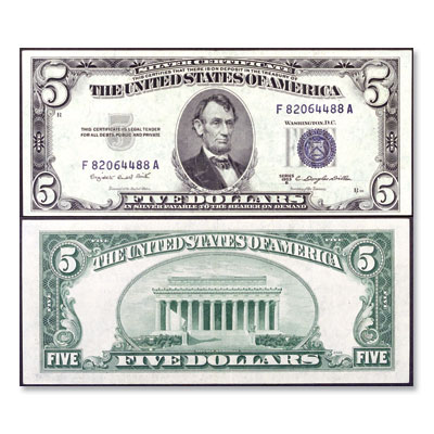 Image for 1953B $5 Silver Certificate from Littleton Coin Company