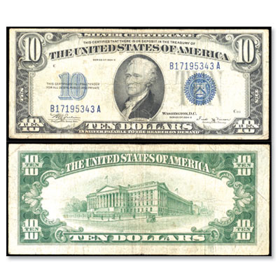 Image for 1934A $10 Silver Certificate from Littleton Coin Company