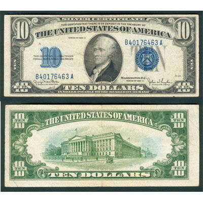 Image for 1934D $10 Silver Certificate from Littleton Coin Company