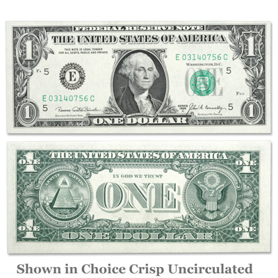 Image for Series 1969C $1 Federal Reserve Note from Littleton Coin Company