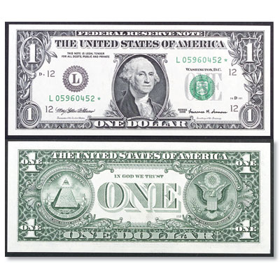 Image for Series 1999 $1 Federal Reserve Star Note from Littleton Coin Company