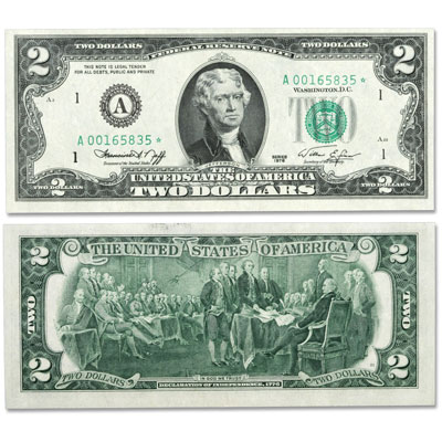 Image for Series 1976 $2 Federal Reserve Star Note from Littleton Coin Company