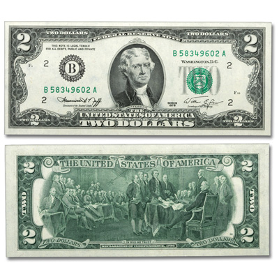 Image for 1976 $2 Federal Reserve Note - New York from Littleton Coin Company