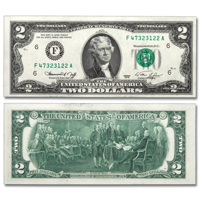Image for 1976 $2 Federal Reserve Note - Kansas City from Littleton Coin Company