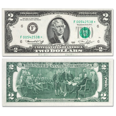 Image for 1976 $2 Federal Reserve Star Note - Atlanta from Littleton Coin Company