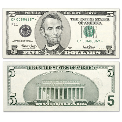 Image for Small Size US Paper Money - Federal Reserve - 2001 from Littleton Coin Company