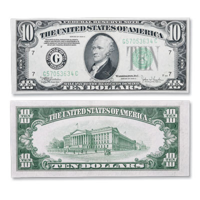Image for Series 1934C $10 Federal Reserve Note from Littleton Coin Company