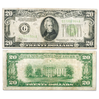 Image for Series 1934 $20 Federal Reserve Note from Littleton Coin Company