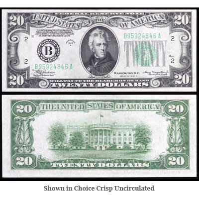 Image for Series 1934A $20 Federal Reserve Note from Littleton Coin Company