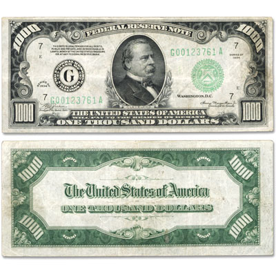 Image for 1934 Small-Size $1000 Federal Reserve Note, Chicago from Littleton Coin Company