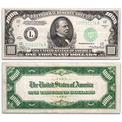 Image for 1934A $1,000 Federal Reserve Note - San Francisco from Littleton Coin Company