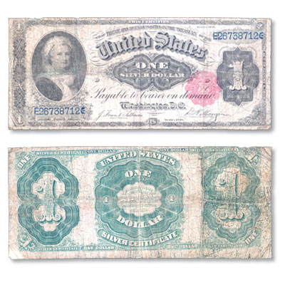 Image for Series 1891 $1 Large Size Silver Certificate, Martha Washington from Littleton Coin Company