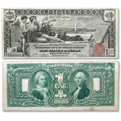 Image for 1896 $1 Large-Size Silver Certificate Educational Series from Littleton Coin Company