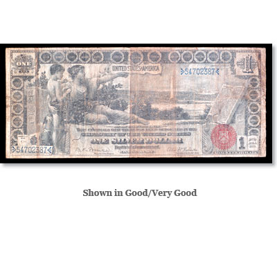 Image for Series 1896 $1 Large Size Silver Certificate Educational from Littleton Coin Company