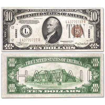Image for Series 1934A $10 Federal Reserve Note, Hawaii from Littleton Coin Company