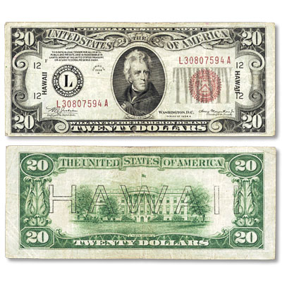 Image for Series 1934A $20 Federal Reserve Note, Hawaii from Littleton Coin Company