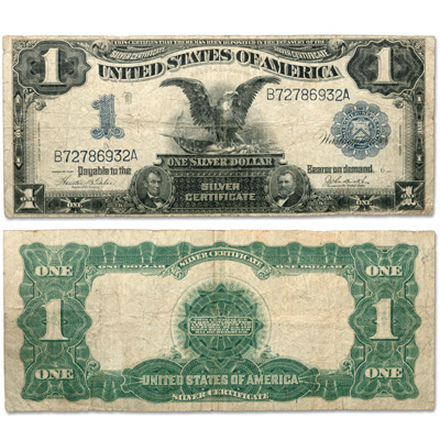 Image for Series 1899 $1 Large-Size Silver Certificate, Black Eagle from Littleton Coin Company