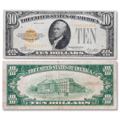 1928 $10 Gold Certificate | Littleton Coin Company