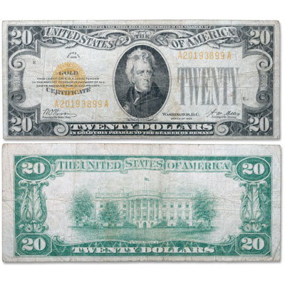 Image for 1928 $20 Gold Certificate from Littleton Coin Company