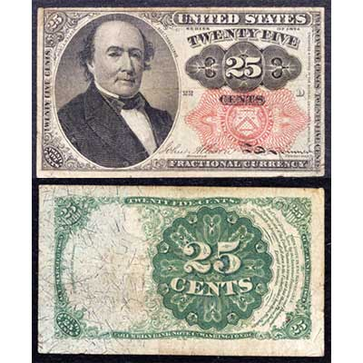 Image for 1862-1876 25¢ Fractional Currency from Littleton Coin Company