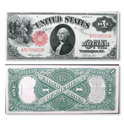 Image for Series 1917 $1 Large Size Legal Tender Note from Littleton Coin Company