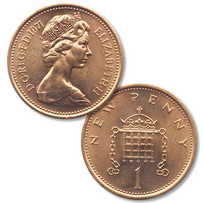 Image for 1971 Great Britain Bronze Penny from Littleton Coin Company